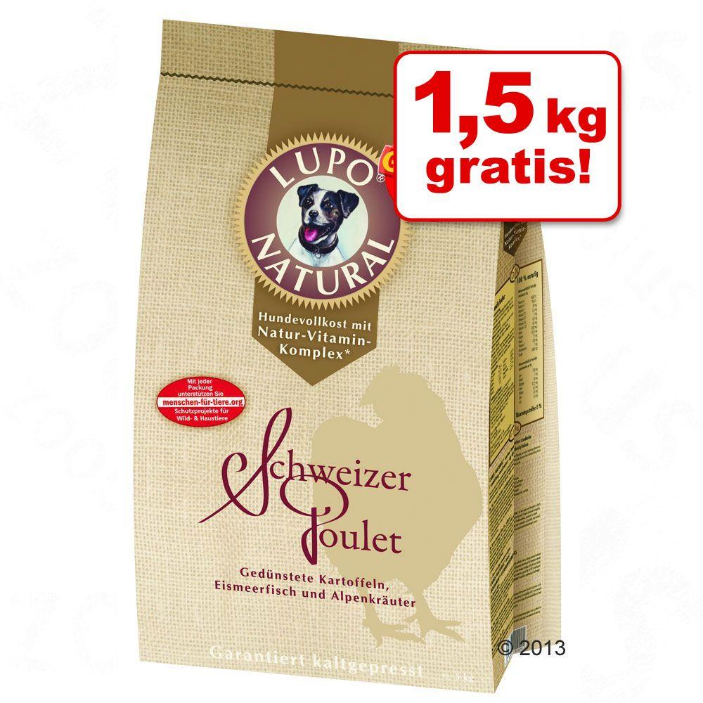 15 kg + 1,5 kg gratis! 16,5 kg Lupo Natural Schweizer Poulet - 16,5 kg
