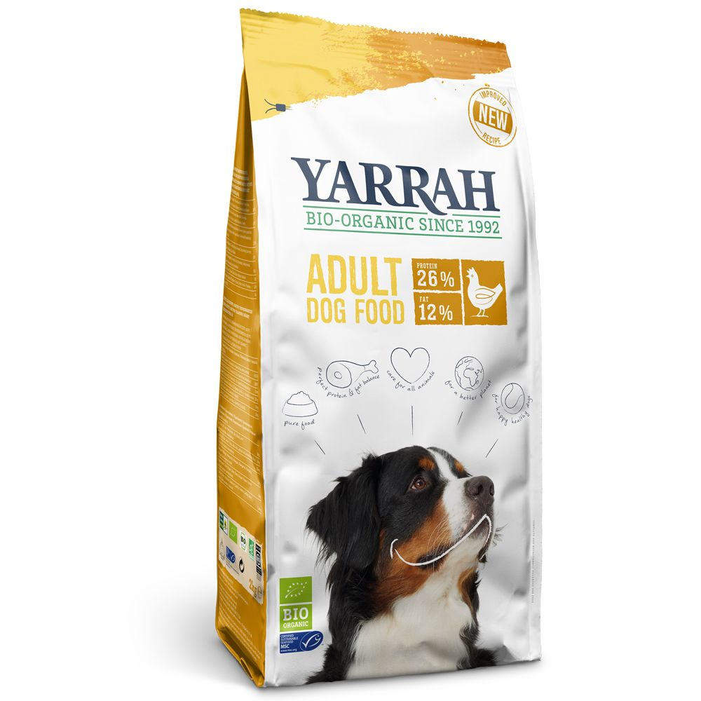 13kg Yarrah Organic Chicken & Grains Dry Dog Food + 2kg Free