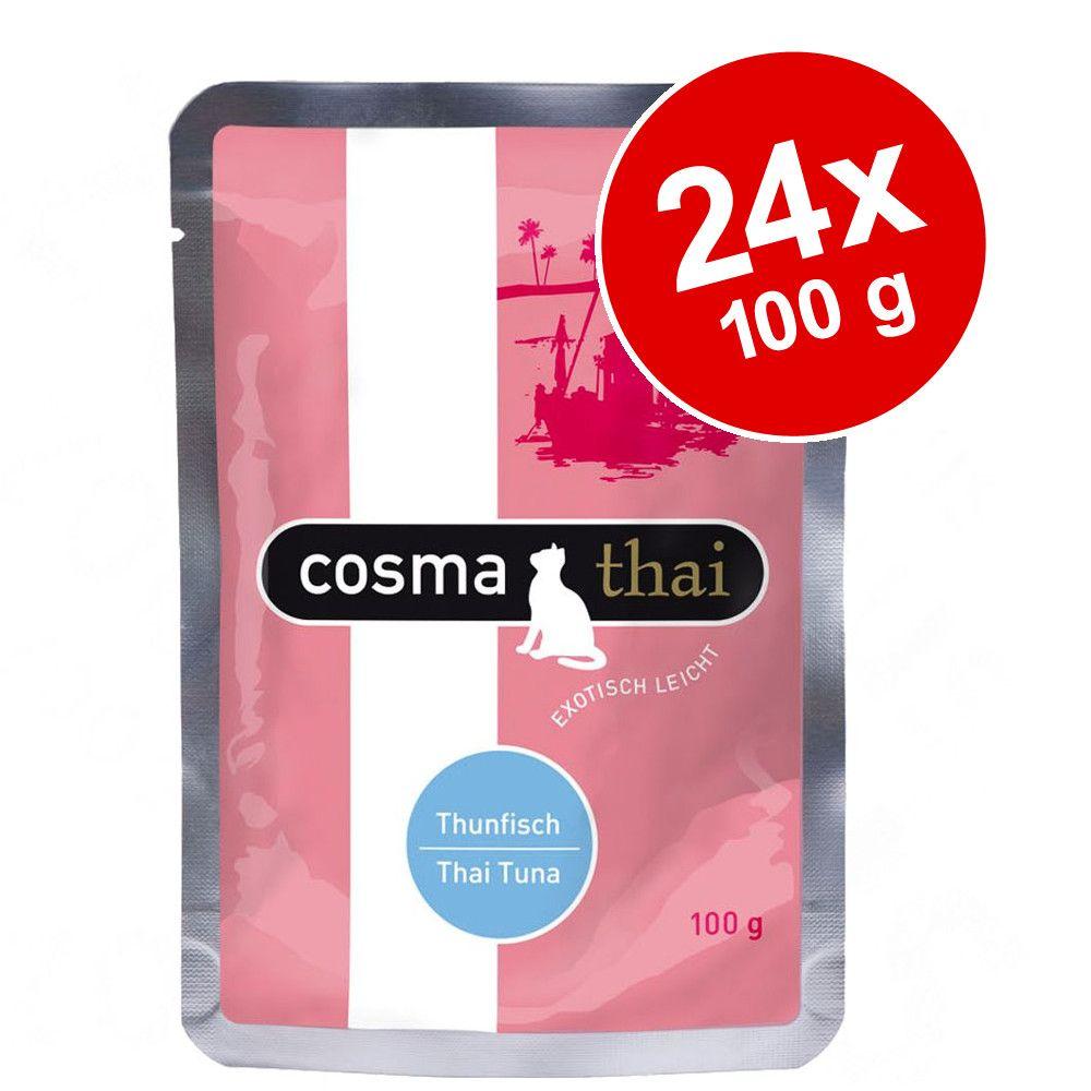 Ekonomipack: Cosma Thai portionspåsar 24 x 100 g - Kyckling & kycklinglever