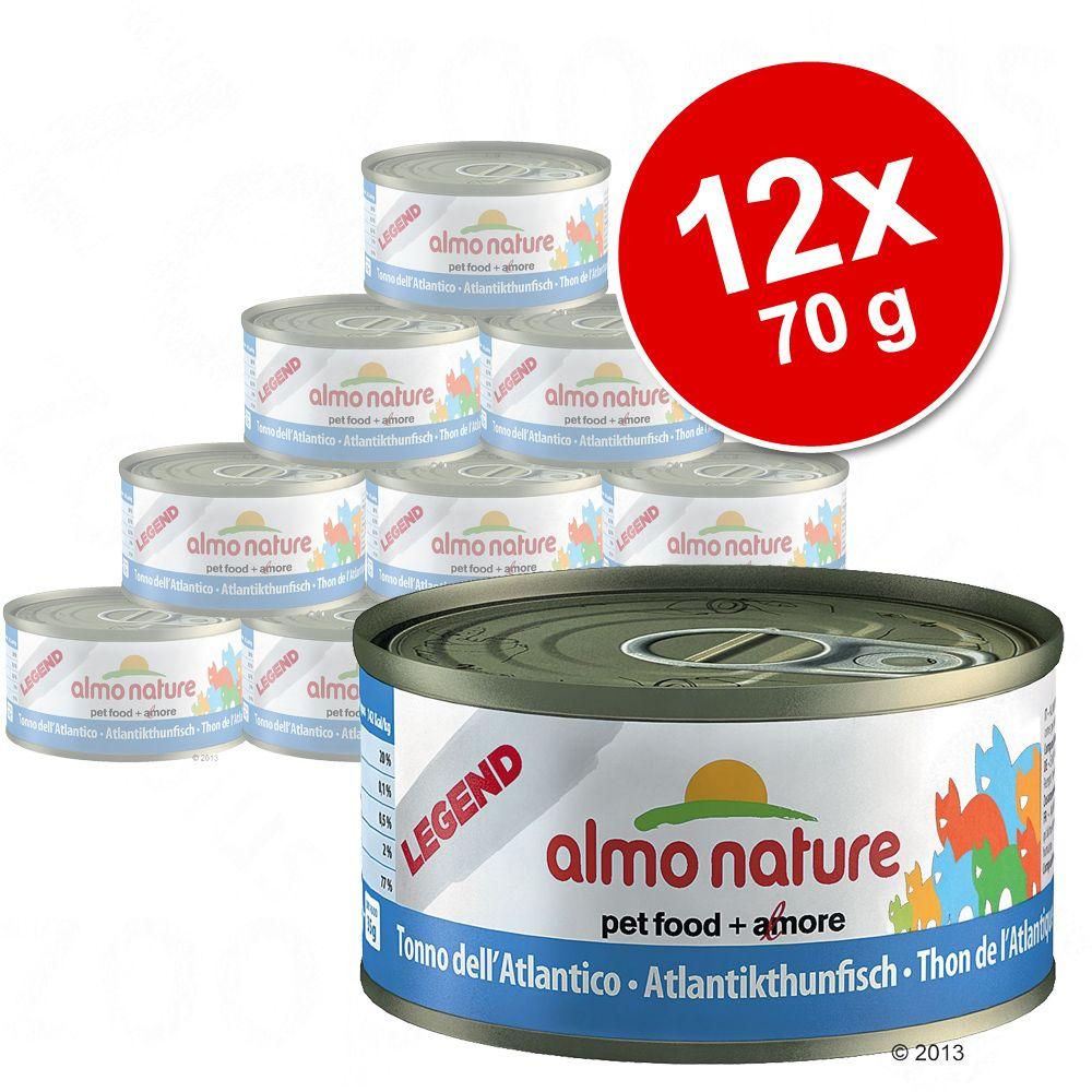Korzystny pakiet Almo Nature Legend, ryba, 12 x 70 g - Łosoś