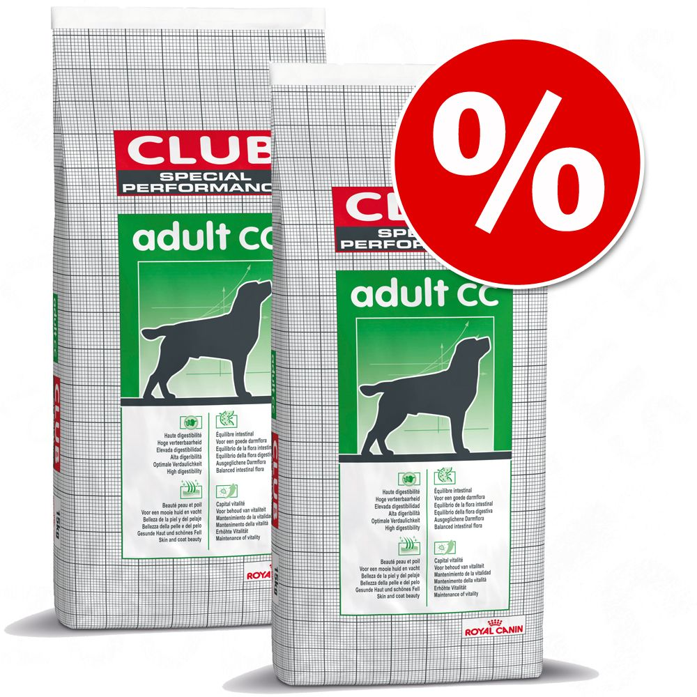 Dwupak Royal Canin Club/Selection, 2 x 15 kg - Club Adult CC