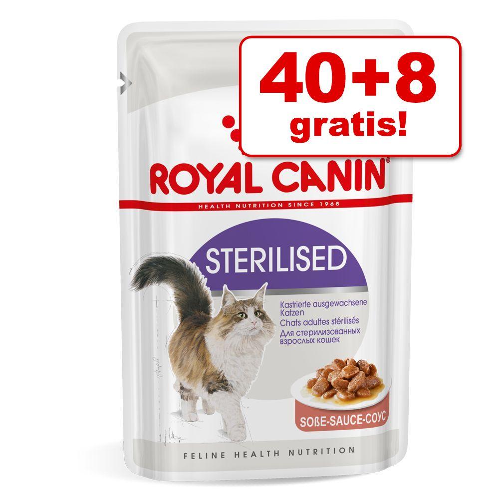 Foto 40 + 8 gratis! 48 x 85 g Royal Canin - Instinctive +7 in Salsa