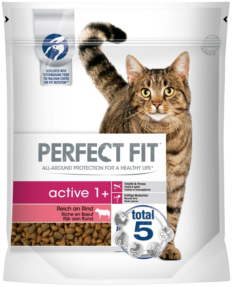 1.4kg Active 1+ Beef Perfect Fit Dry Cat Food