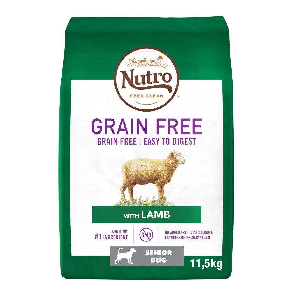 11.5kg Nutro Dog Grain-Free Senior Lamb Dry Dog Food