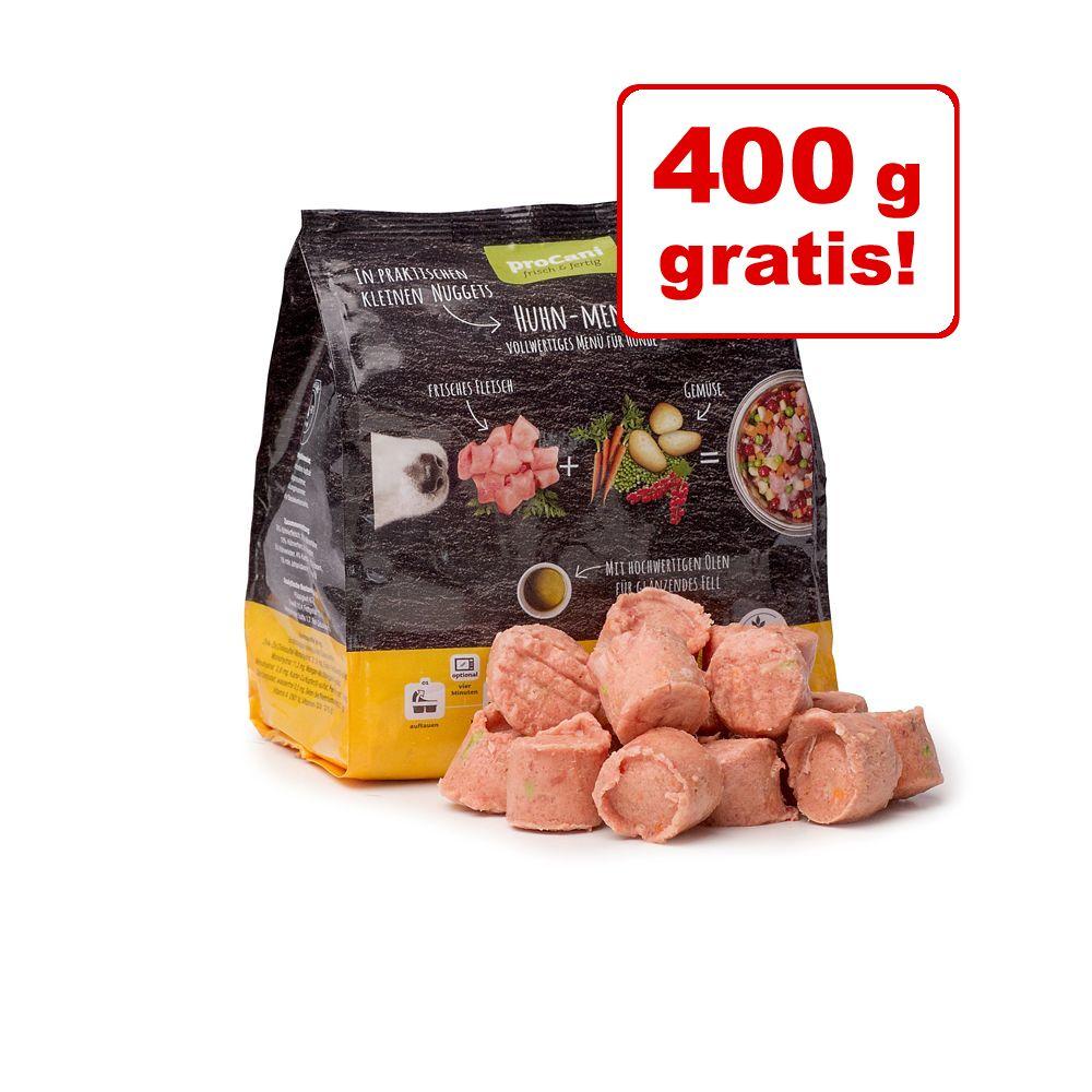 2 kg + 400 g gratis! 5 x 480 g pro Cani Menü frisch & fertig  Nuggets - Rind