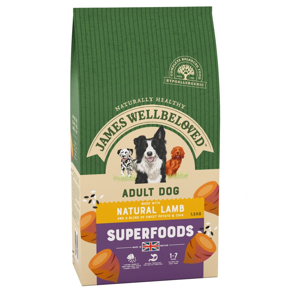 James Wellbeloved Superfoods Dry Dog Food - 20% Off!* - Puppy/Junior Turkey with Kale & Quinoa (1.5kg)