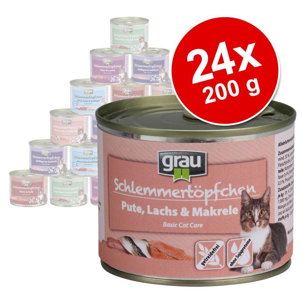 Sparpaket Grau Schlemmertöpfchen Getreidefrei 2...