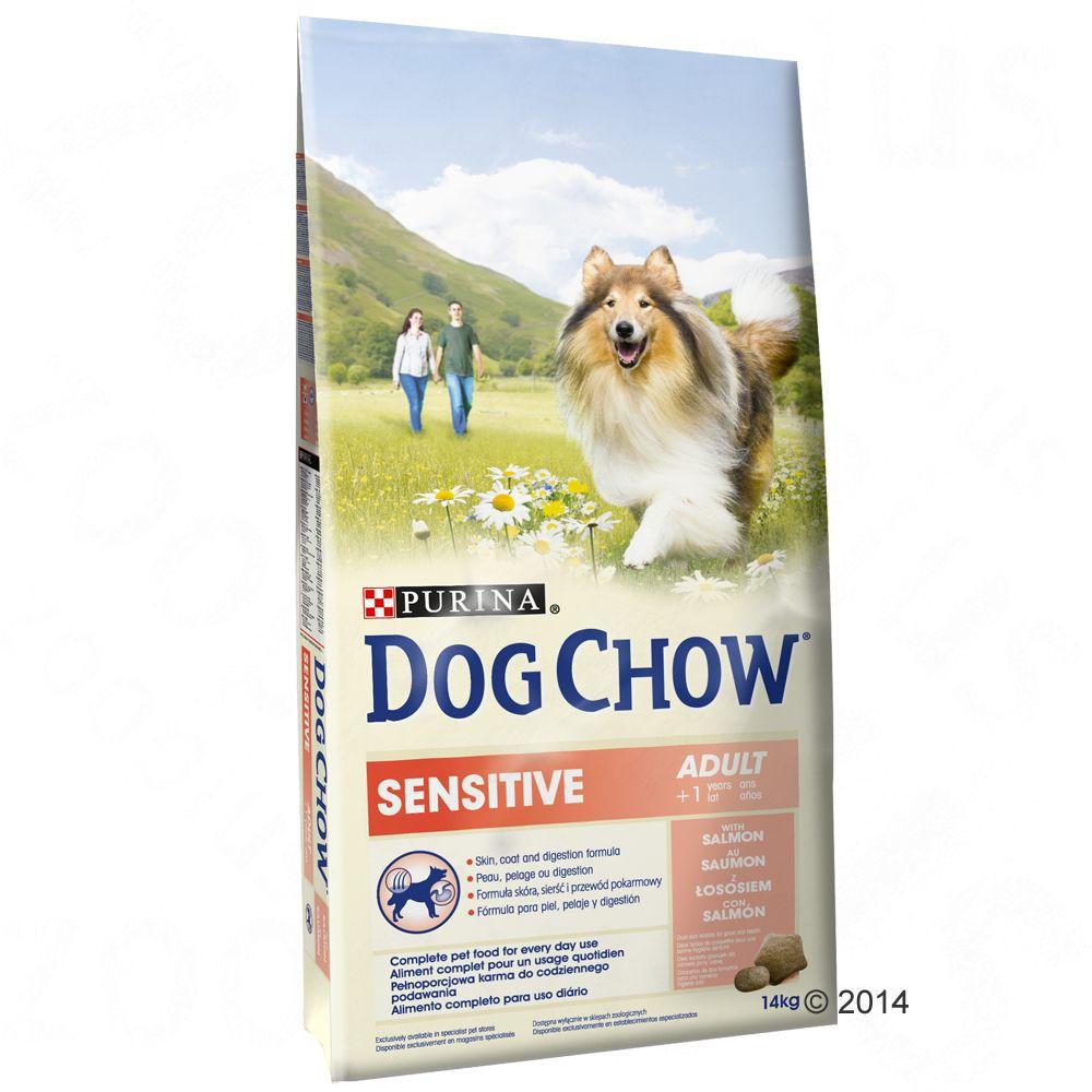 Purina Dog Chow Adult Sensitive Salmon & Rice, łosoś i ryż - 14 kg