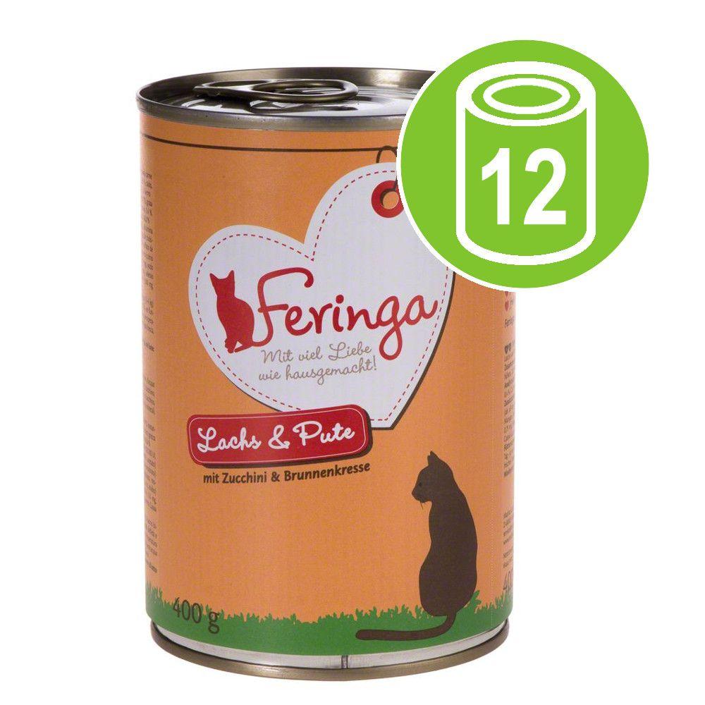 Ekonomipack: Feringa Menu Duo 12 x 400 g - Lax & kalkon med zucchini & krasse