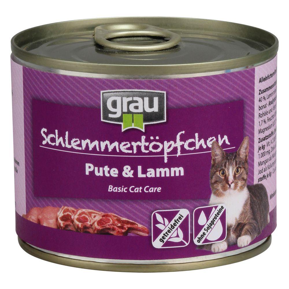 6x200g Kitten Menu Beef, Duck & Poultry Grau Schlemmer Grain-Free Wet Cat Food