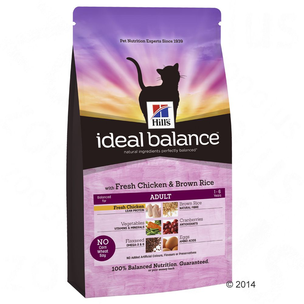 Hill's Ideal Balance Feline Adult - Chicken & Brown Rice - 2kg