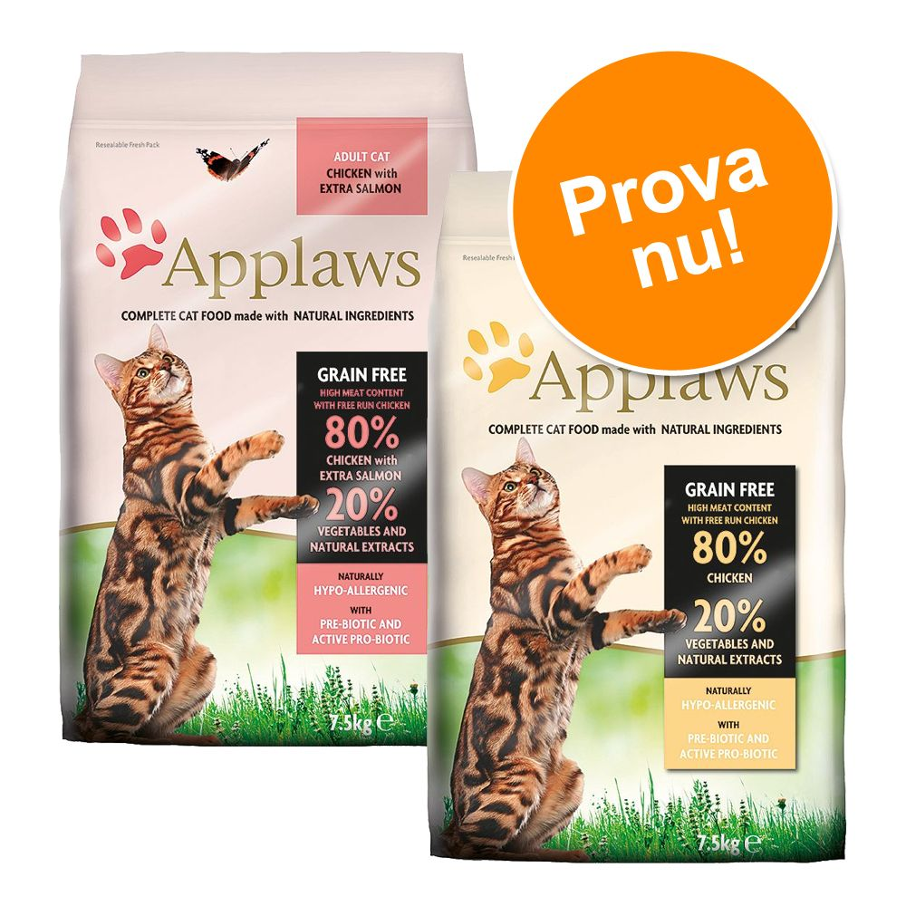 2 x 400 g Applaws i blandat provpack - Blandpack: Chicken + Chicken & salmon
