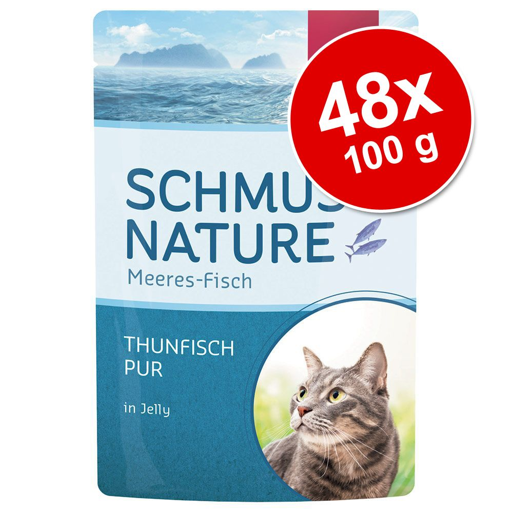 Ekonomipack: Schmusy Nature Fish 48 x 100 g - Tonfisk