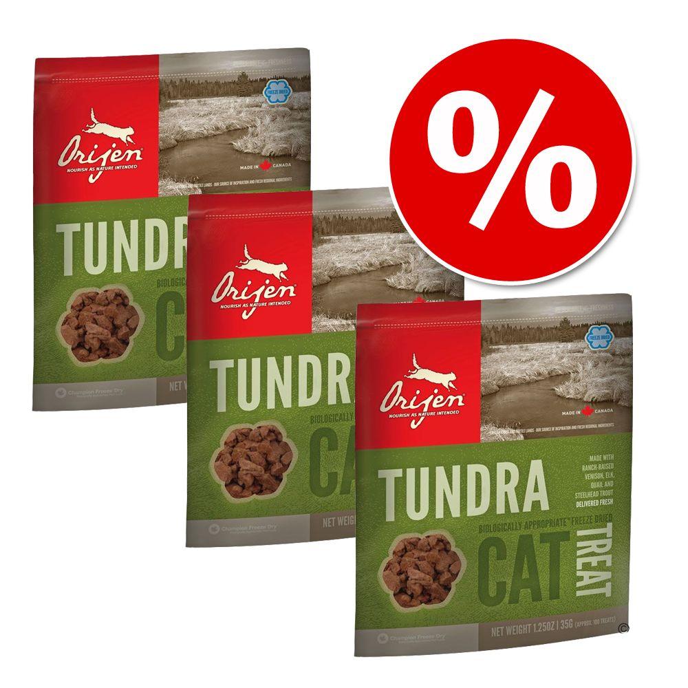 3 x 35 g Sparpaket Orijen Katzensnacks - Tundra