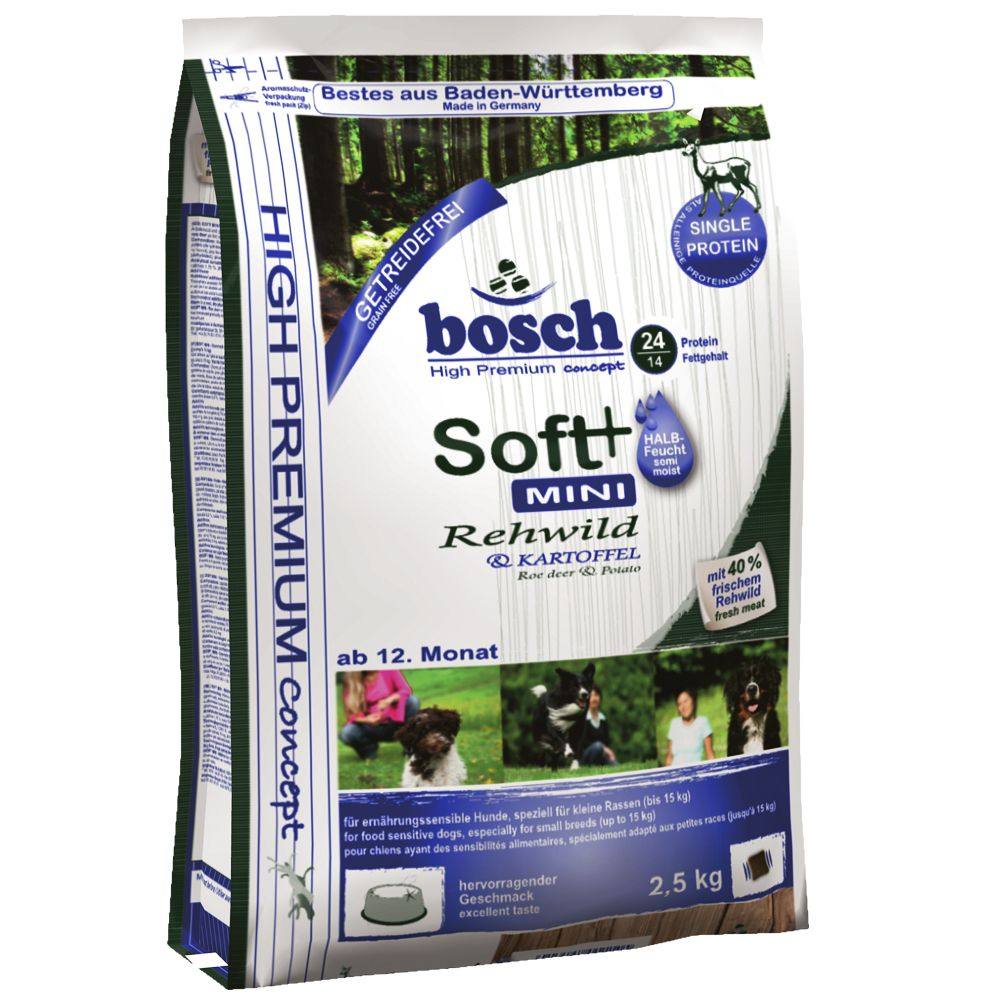 Bosch Soft Mini Venison & Potato HPC Dog Food - 2.5kg