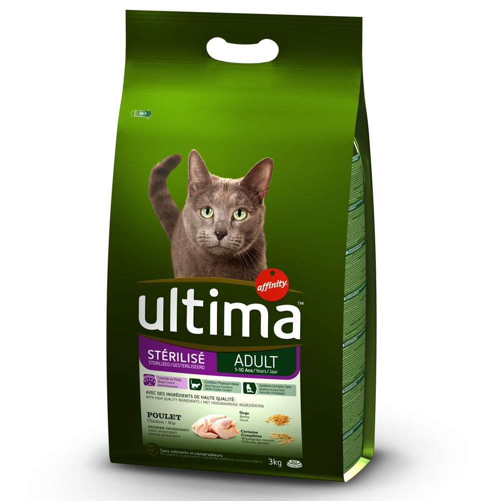 Chicken & Barley Adult Sterilised Affinity Ultima Dry Cat Food