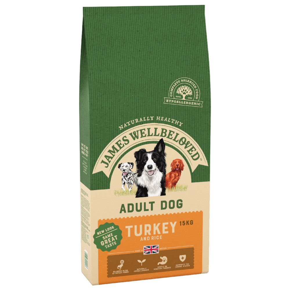 Adult Turkey & Rice James Wellbeloved Dry Dog Food