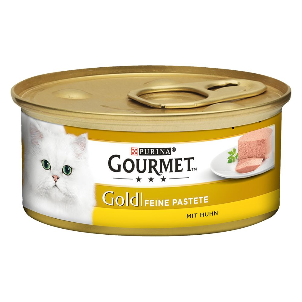 48x85g Pollock Gourmet Gold Pâté Recipes Mega Pack Wet Cat Food