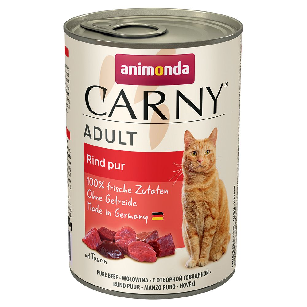 Adult Poultry and Beef Saver Pack Animonda Carny Wet Cat Food