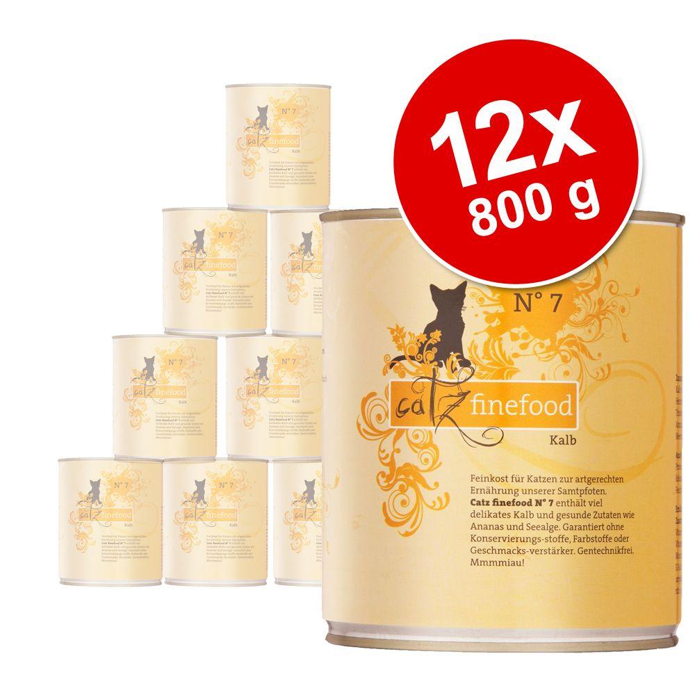 Sparpaket catz finefood 12 x 800 g - Lachs & Ge...