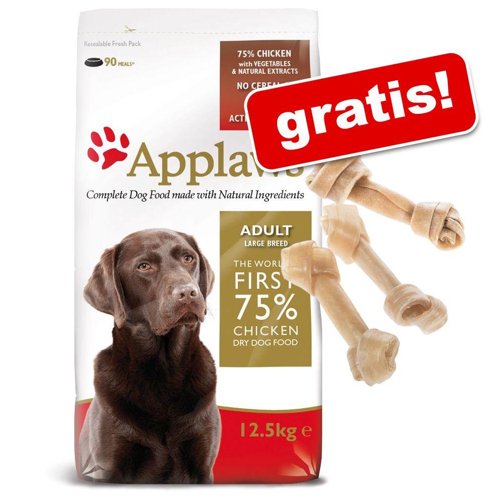 7,5 kg Applaws + 6 Barkoo Kauknochen gratis! - ...
