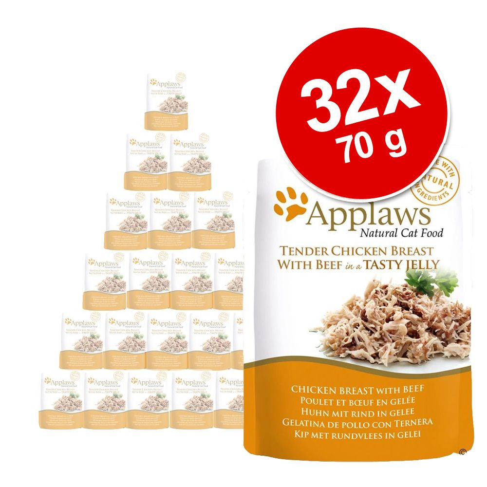 Sparpaket Applaws Pouch in Jelly 32 x 70 g - Th...