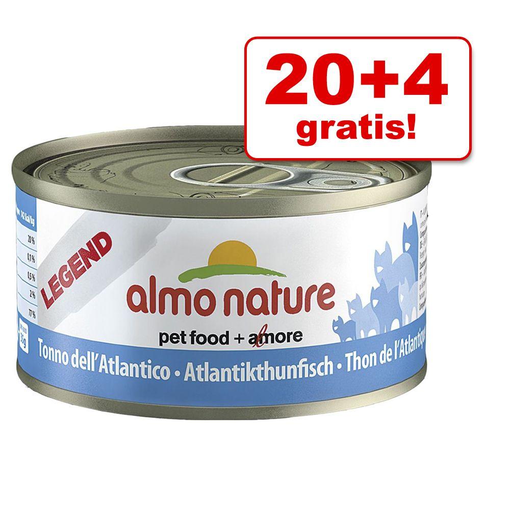 20 + 4 gratis! 24 x 70 g Almo Nature Legend - L...