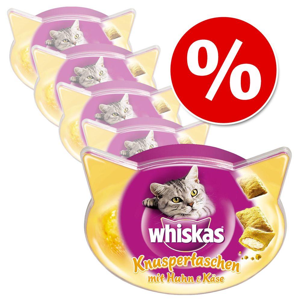 Sparpaket Whiskas Snacks 5 x 40 / 55 / 60 g - Knuspertaschen Rind (5 x 60 g)