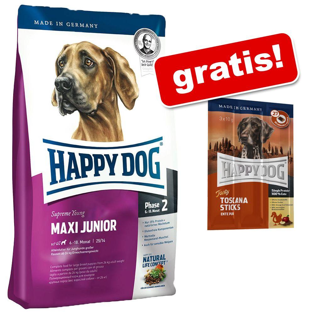 Duże opakowanie Happy Dog Supreme + przysmak Happy Dog gratis! - Fit & Well Light 2 - Low Fat, 12,5 kg