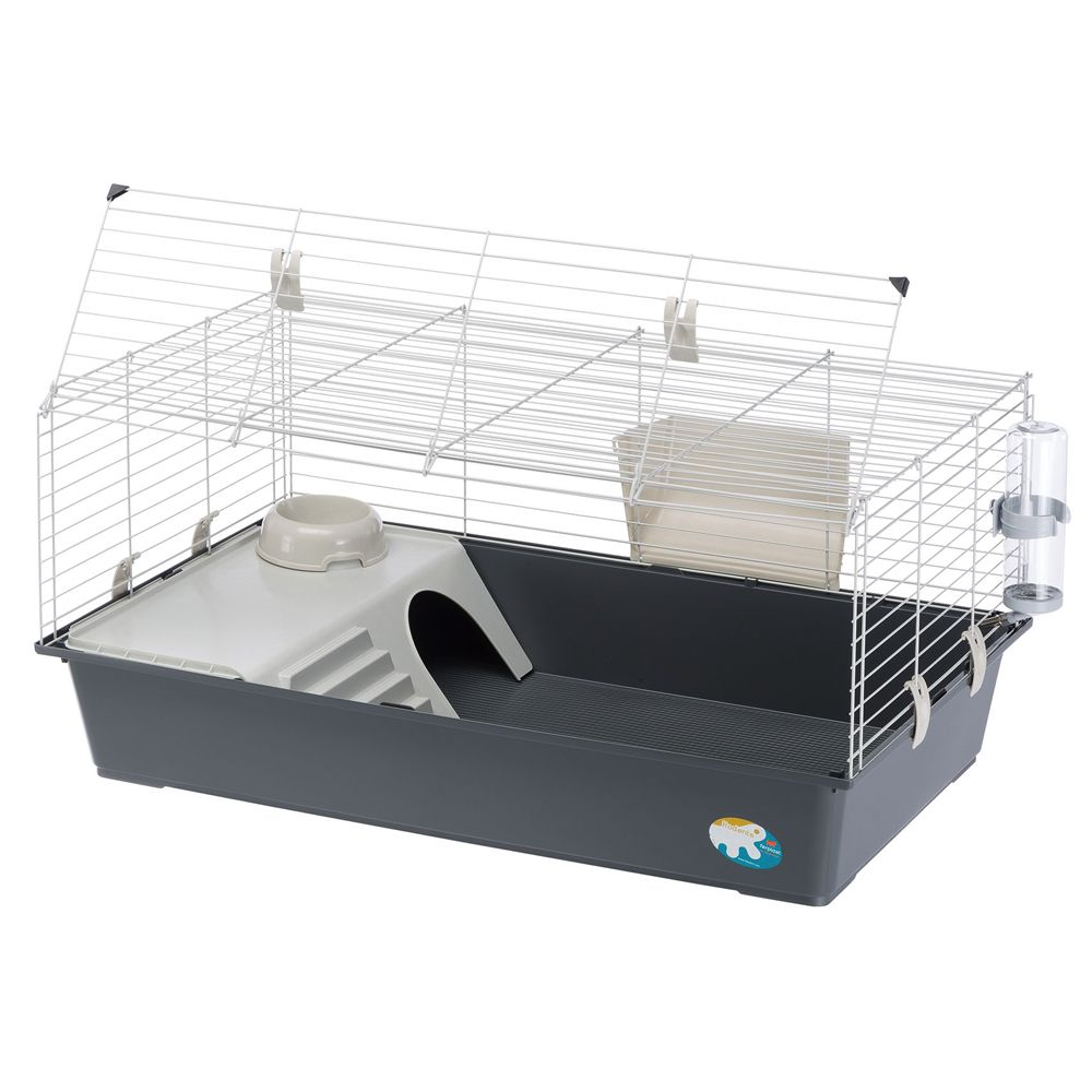 Ferplast Rabbit 100 smådjursbur - Grå: B 97 x D 60 x H 45,5 cm
