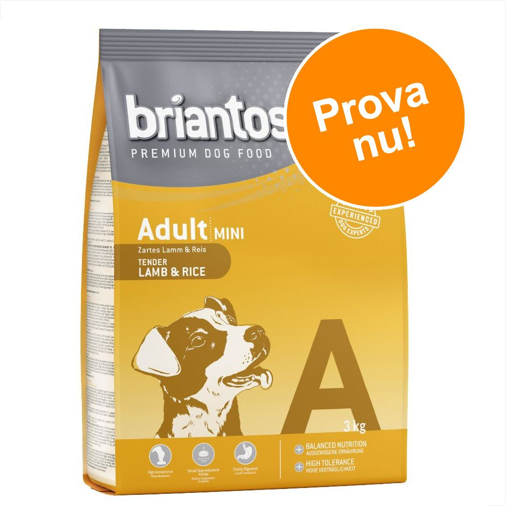 Prova nu! 3 kg Briantos torrfoder till specialpris! - Adult Sensitive