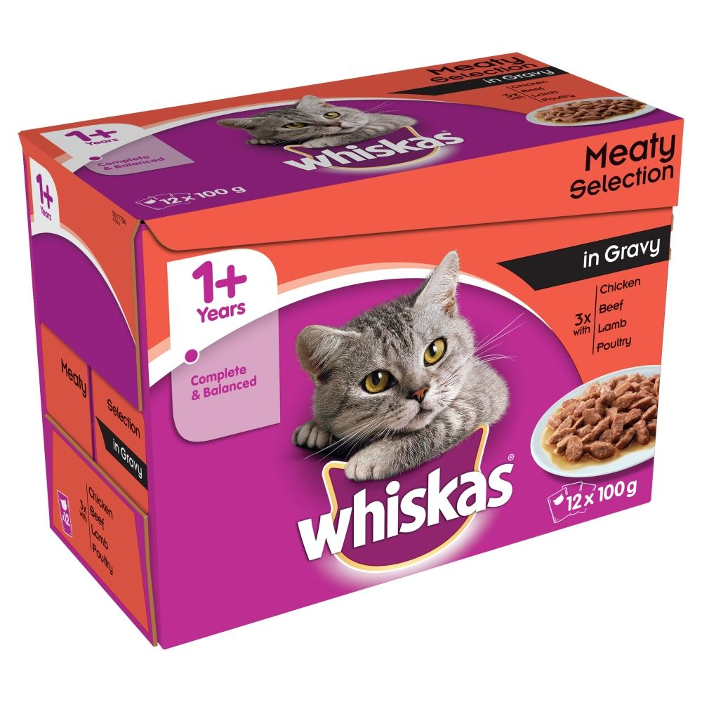 Click to view product details and reviews for Whiskas 1 Meat Selection In Gravy 48 X 100g.