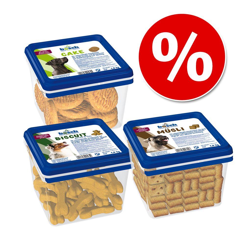 Mixpaket Bosch Biscuit Hundesnacks - 3 x 1 kg