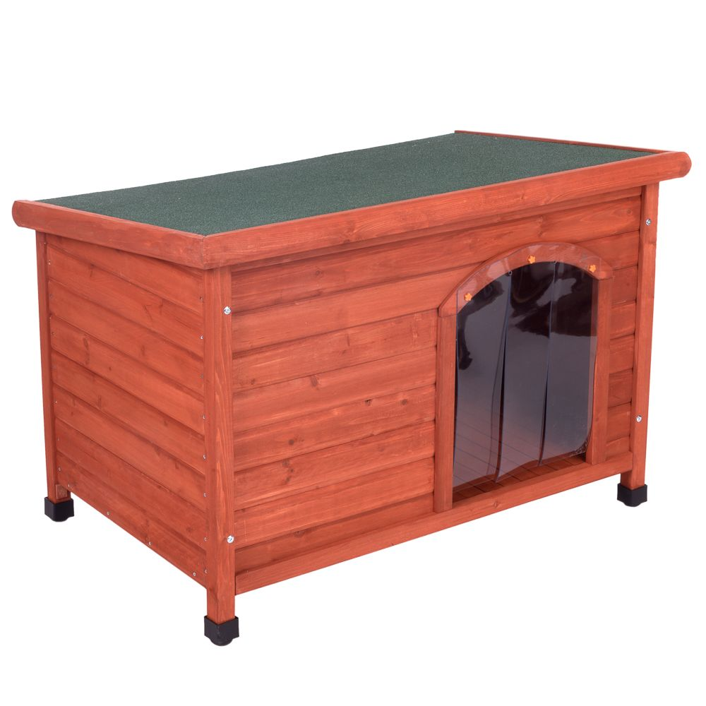 Woody Premium Flat-Roofed Dog Kennel