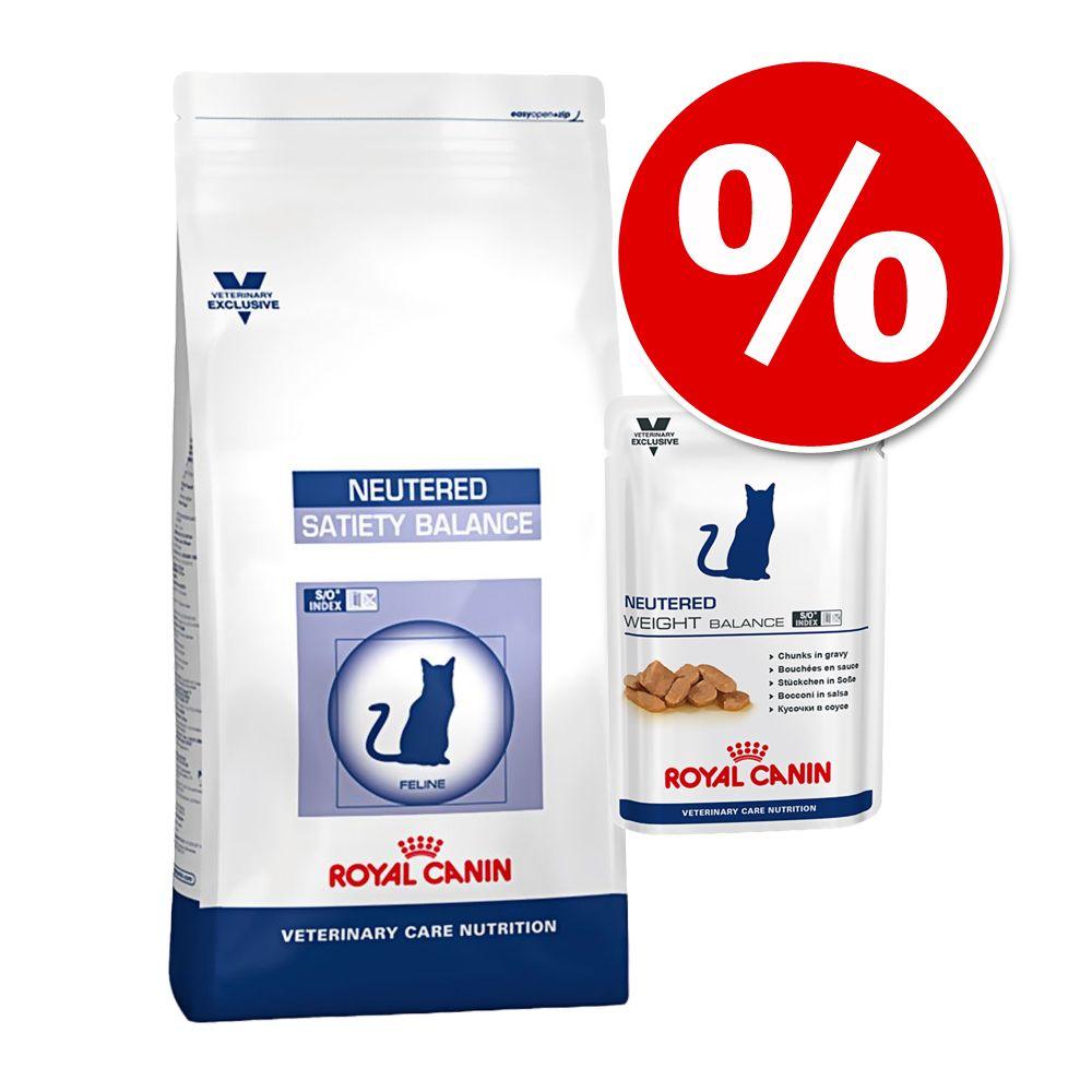Royal Canin Vet Care Nutrition blandpack torrfoder + våtfoder - Neutered Satiety Balance