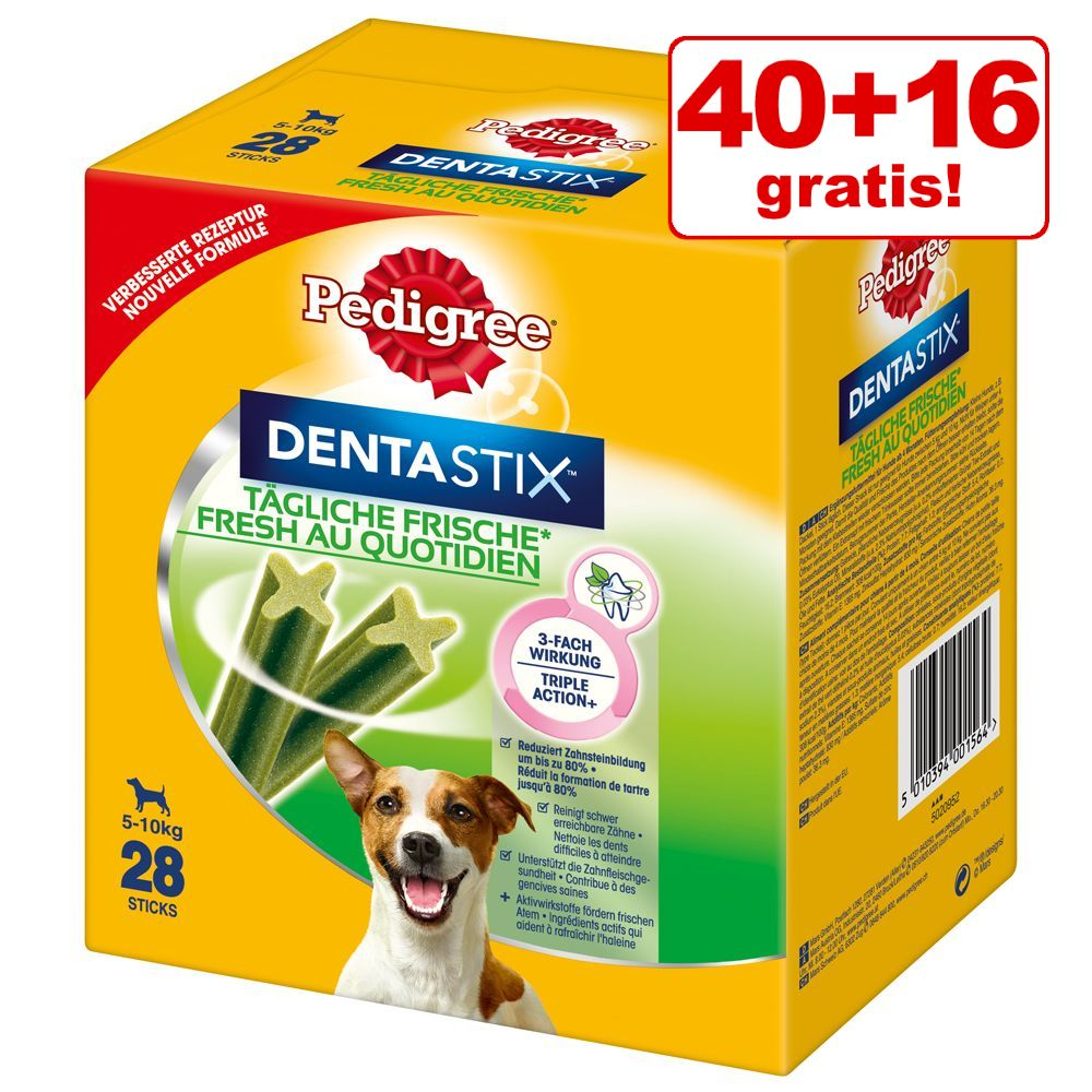 40 + 16 gratis! 56x Pedigree Dentastix Fresh - für mittelgroße Hunde (10-25 kg)