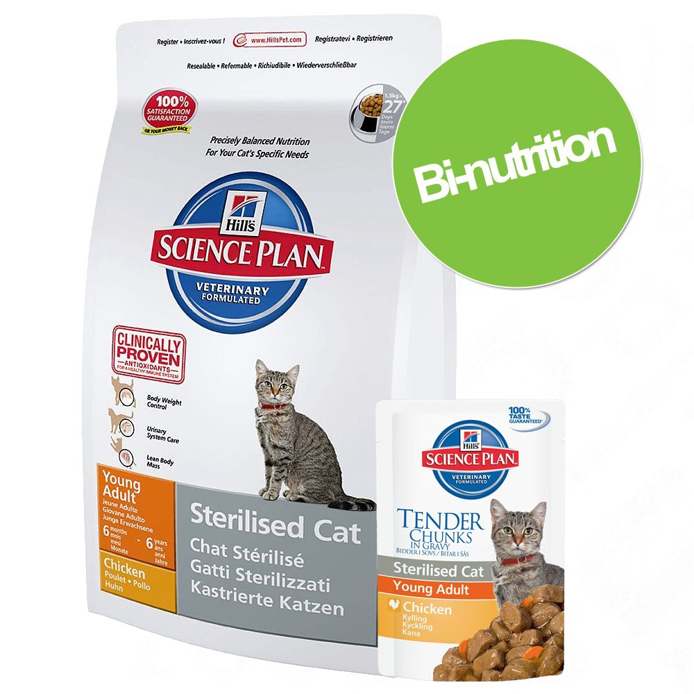 Chat Croquettes Hill´s Science Plan Bi nutrition
