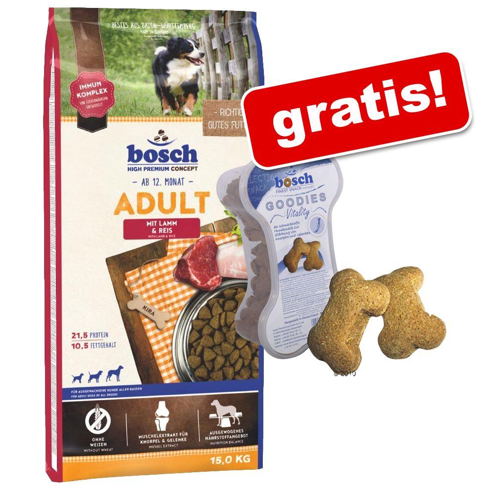 Foto Bosch + 450 g Bosch Goodies Vitality gratis! - Adult Mini Agnello & Riso 15 kg Bosch High Premium concept