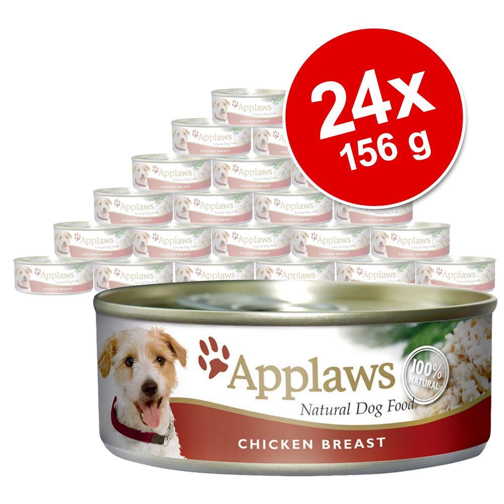 Ekonomipack: Applaws hundfoder i buljong 24 x 156 g - Kyckling, skinka & grönsaker