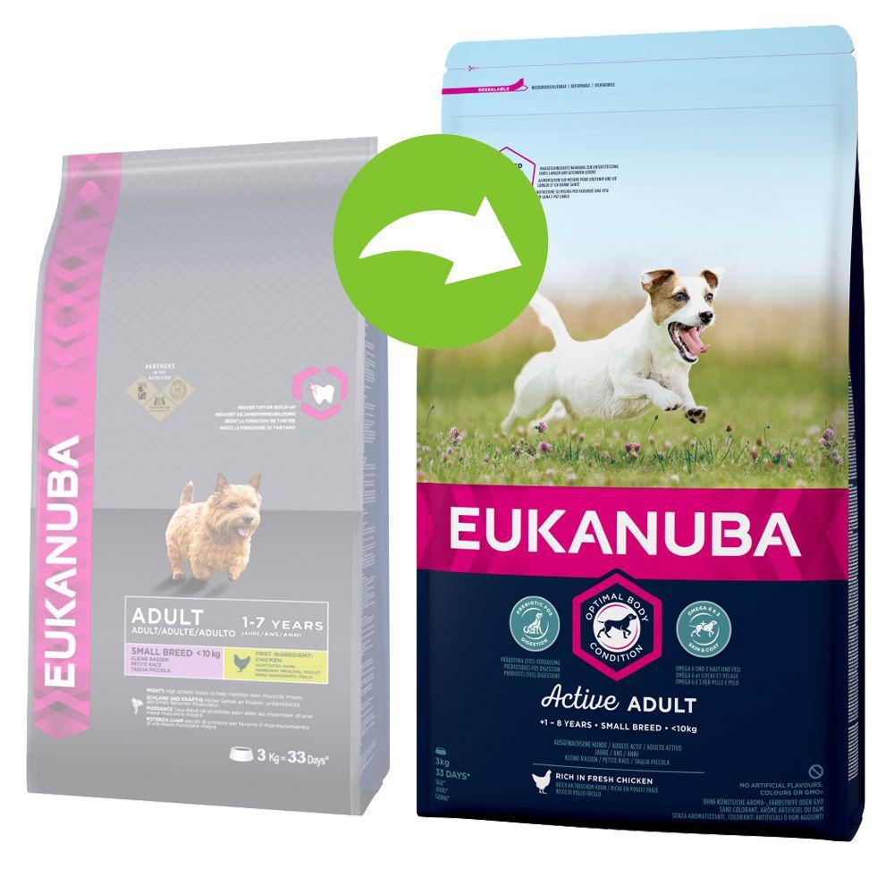 Image of Eukanuba Active Adult Small Breed Huhn - 3 kg