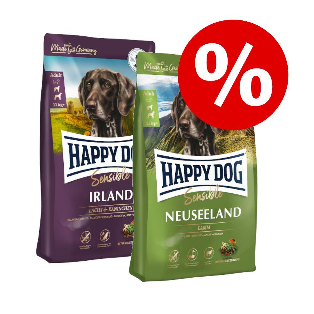 Mešano varčno pakiranje Happy Dog Supreme 2 x 12,5 kg - Mix: Sensible Irland & Sensible Neuseeland