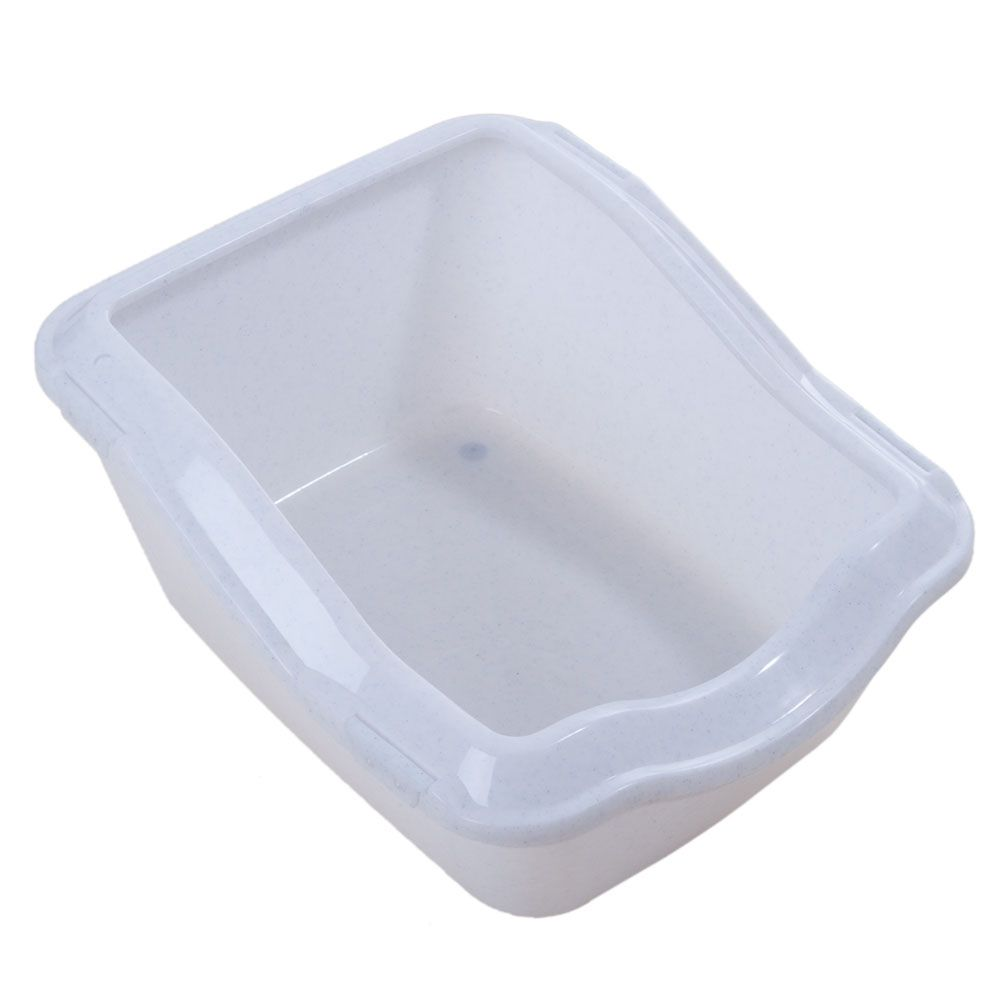 Trixie Cleany Cat Litter Tray - Extra Deep - White