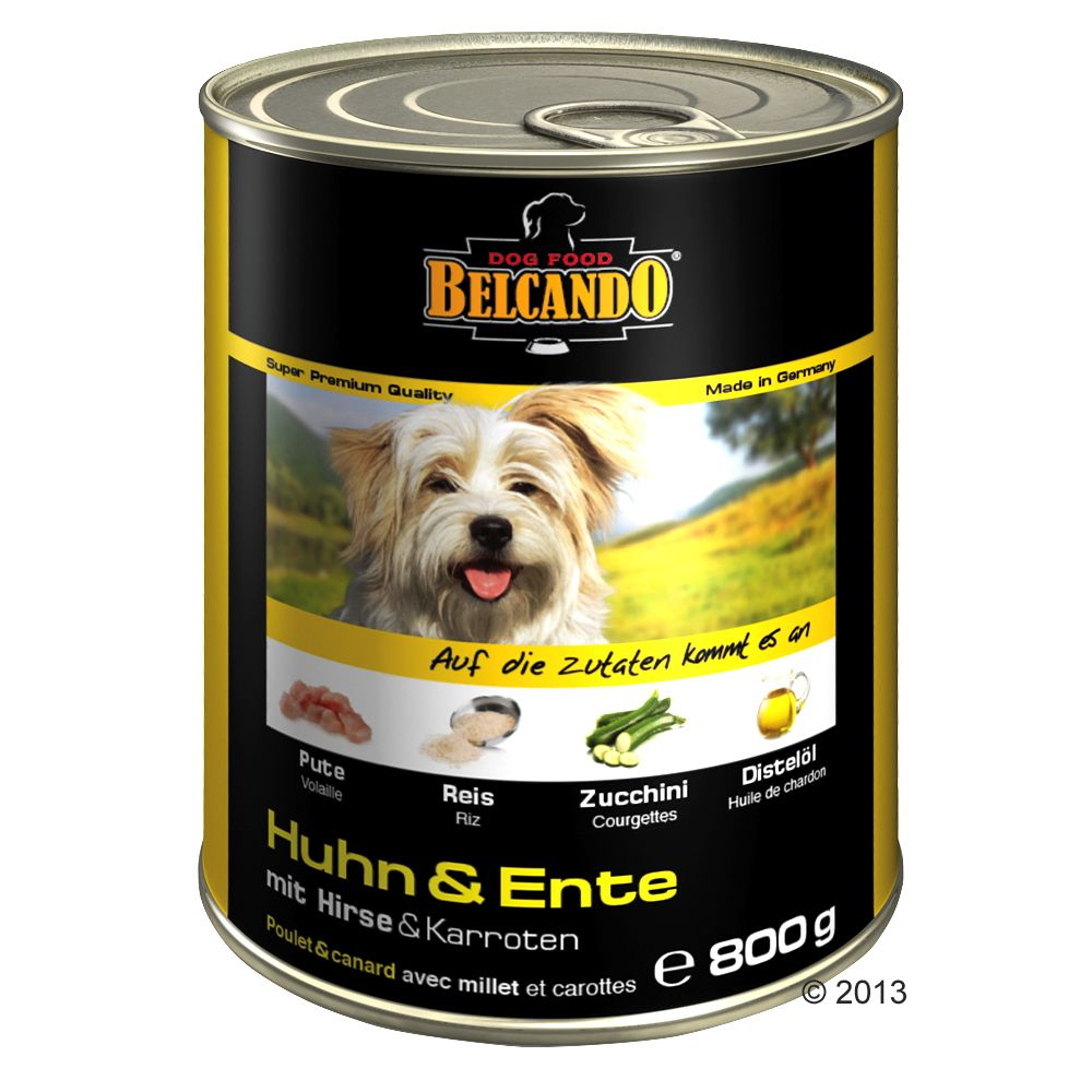 Belcando Super Premium 6 x 800 g - Huhn & Ente mit Hirse & Karotten