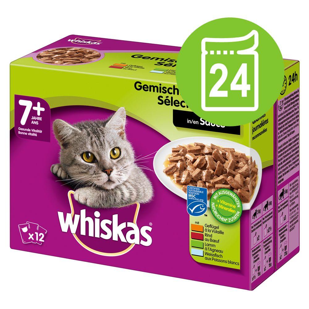 Ekonomipack: Whiskas 7+ Senior portionspåse 48 x 100 g - 7+ Blandat urval i sås 100 g