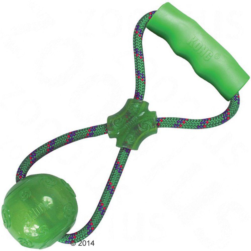 KONG Squeezz Ball med handtag - L: ca 32,5 cm; Ball: Ø 8 cm; Griff: L 11 x 2 cm
