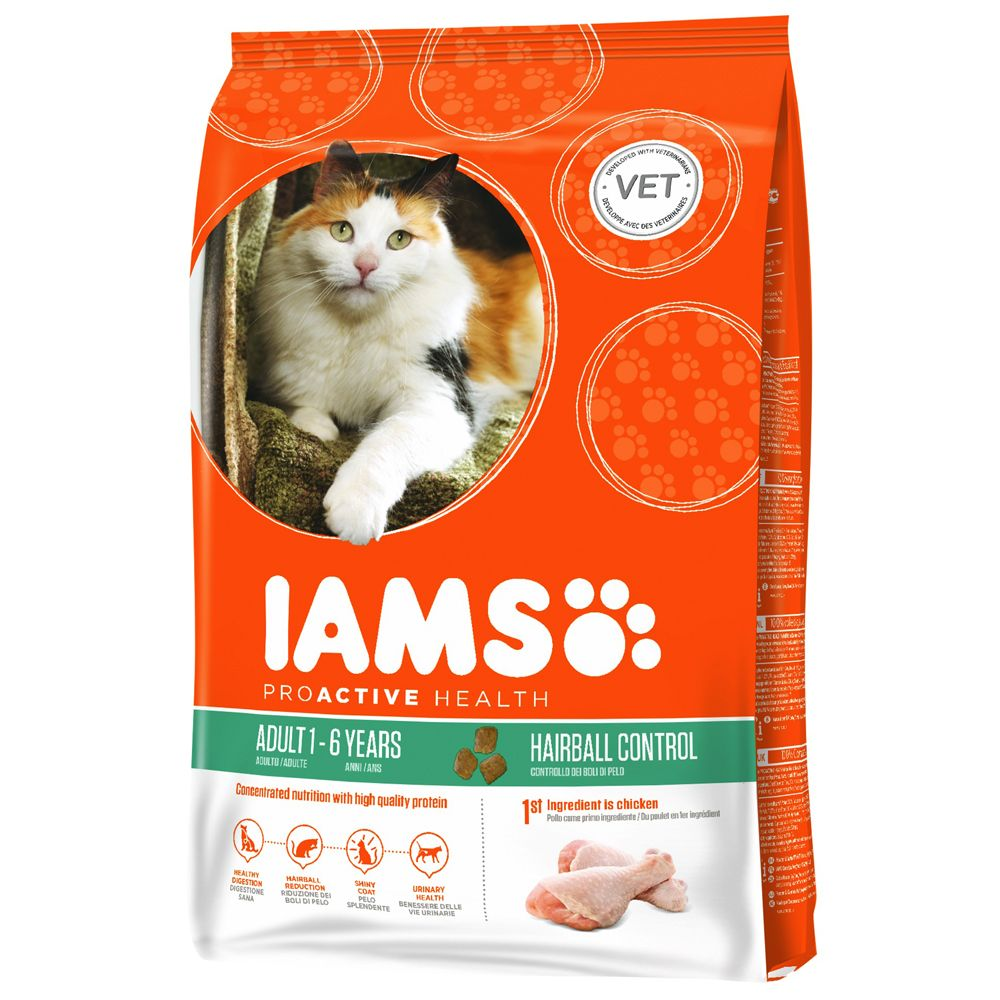 Chat Croquettes Iams Hairball