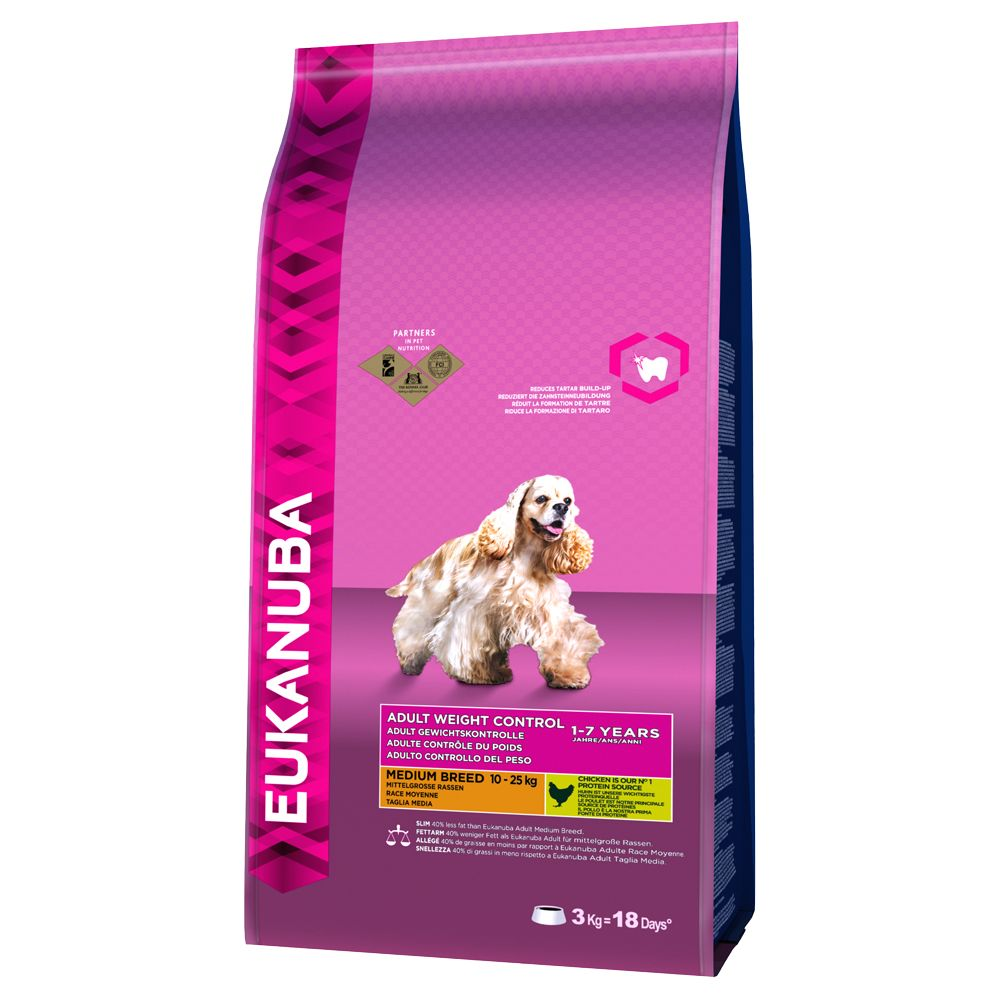 Medium Adult Weight Control Eukanuba Dry Dog Food