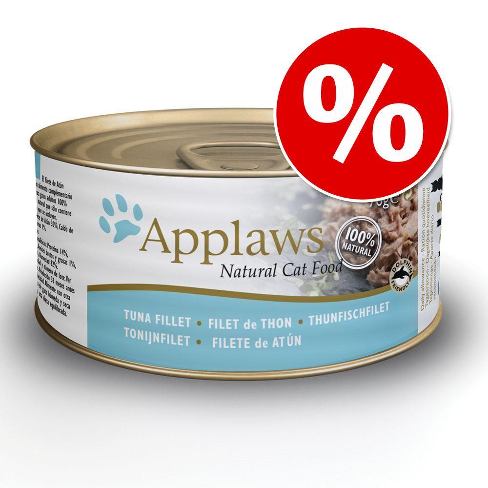 24 x 70 g Applaws w bulionie w super cenie! - Filet z tuńczyka z krewetkami