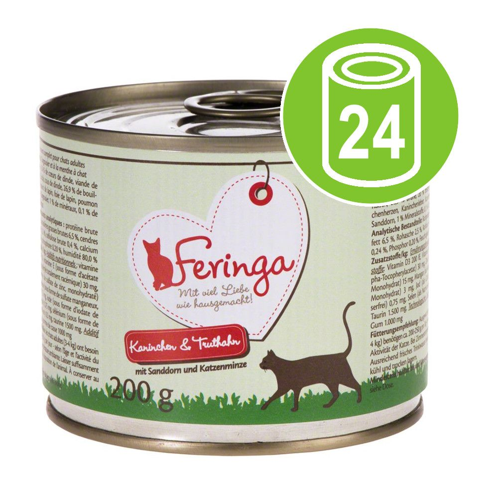 Ekonomipack: Feringa Menu Duo 24 x 200 g - Anka & kalv med broccoli & maskros