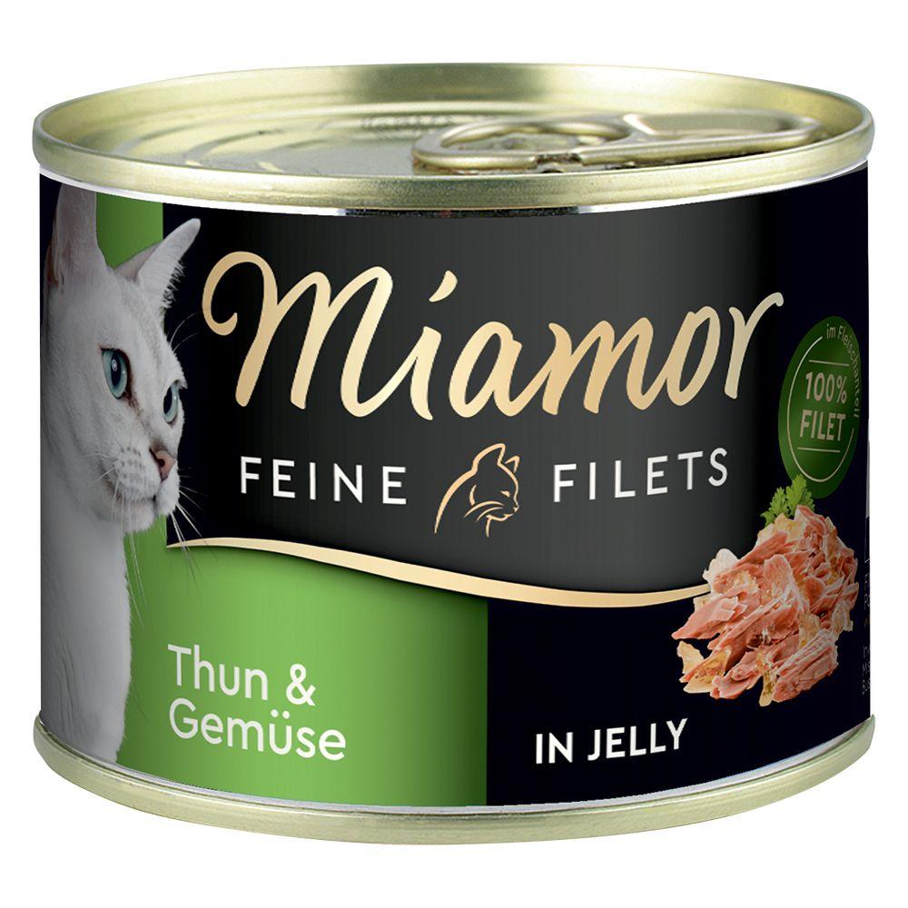 Miamor Fine Filets 6 x 185 g - Tonfisk & ris i gelé